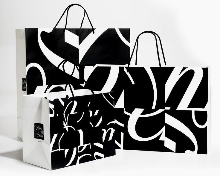 Saks Fifth Avenue shopping bags - Michael Beirut