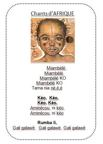 chants africains chez Vivi