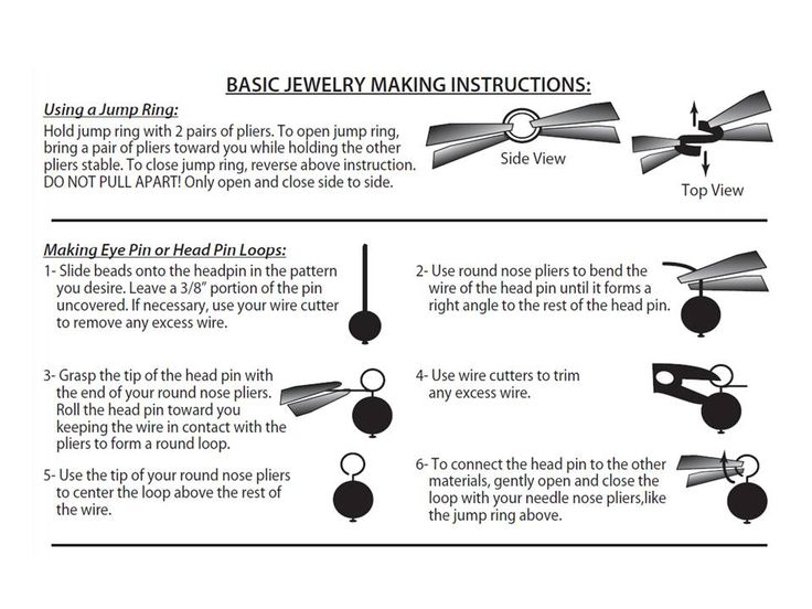 Print out this earring technique cheat sheet for your party!