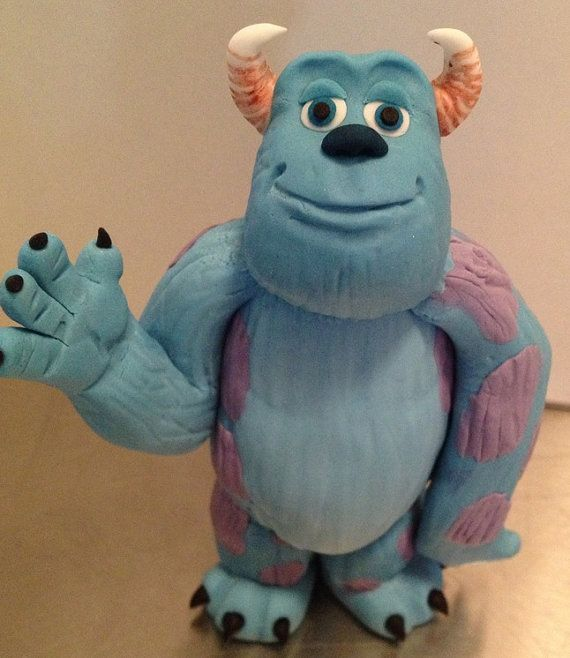 Monster Sully Cake Topper edible fondant by NicolePeglerCakeArt, $60.00