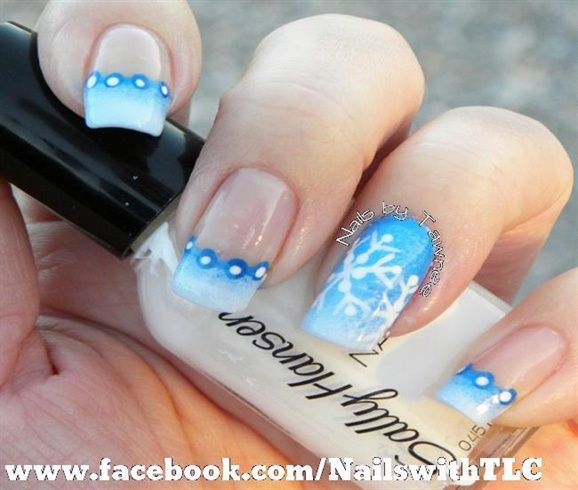 Gradient Snowflakes by NailswithTLC - Nail Art Gallery nailartgallery.nailsmag.com by Nails Magazine www.nailsmag.com #nailart