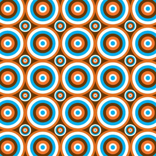 retro oparty-pattern (by Elizabeth Caldwell, via Behance)