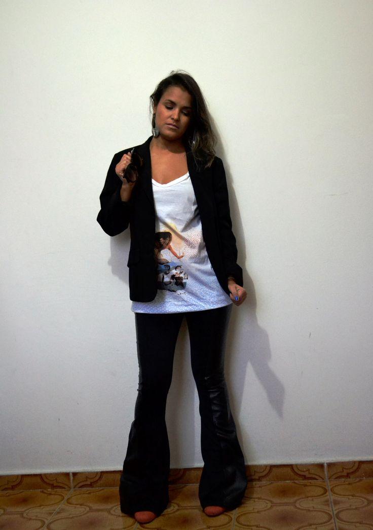 Camisa/Bata Espaço Fashion e Calça My Place