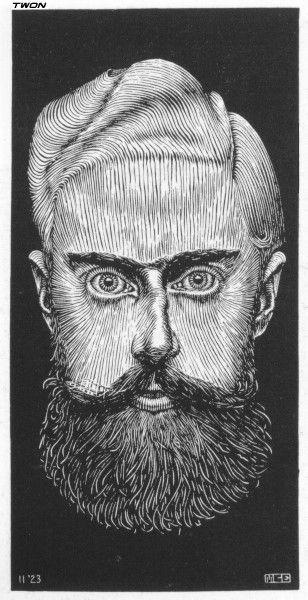 M.C. Escher. Self-Portrait -. WikiPaintings.org