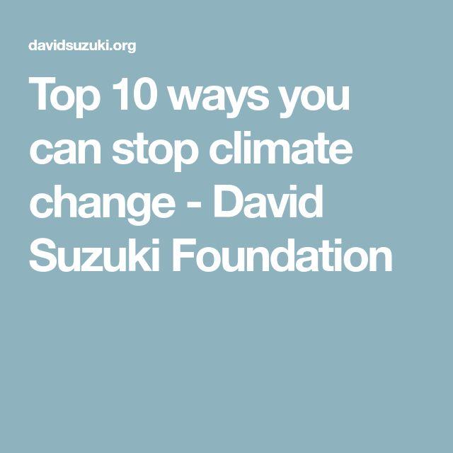 Top 10 ways you can stop climate change - David Suzuki Foundation