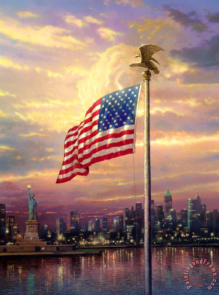 The Light of Freedom Painting by Thomas Kinkade
