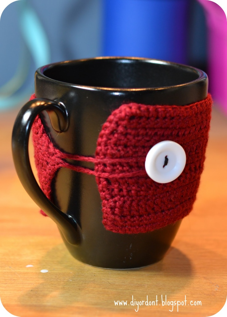 Free How to make crocheted Coffee Coozies / @Erin McWade for our Hot Toddies!