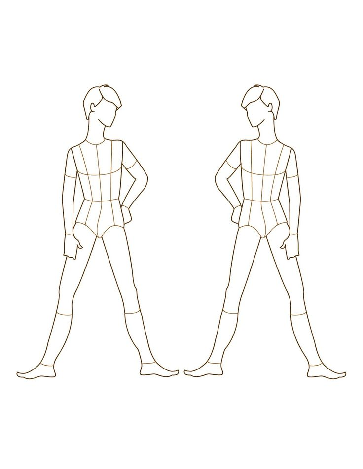 Croqui Fashion Model Templates Male Fashion Figure Template Front Male Fashion Figure