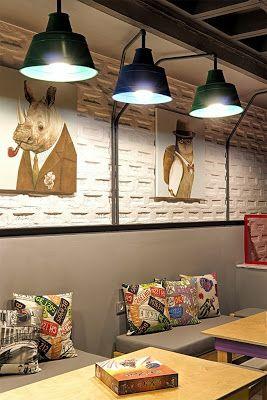 Aydınlatma ve Dekor Dünyasından Gelişmeler: Triopton Architects'den Yunanistan'da Alaloum Board Game Cafe Aydınlatma #aydinlatma #lighting #design #tasarim #dekor #decor