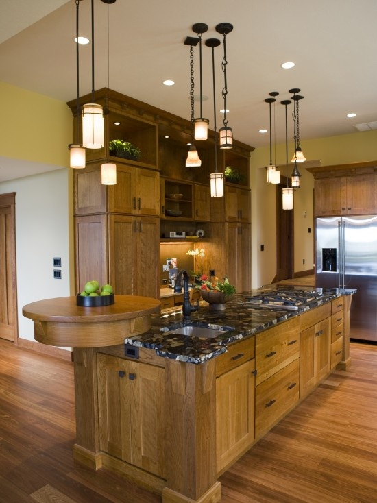 1000 ideas about mission style kitchens on pinterest for Frank lloyd wright kitchen ideas