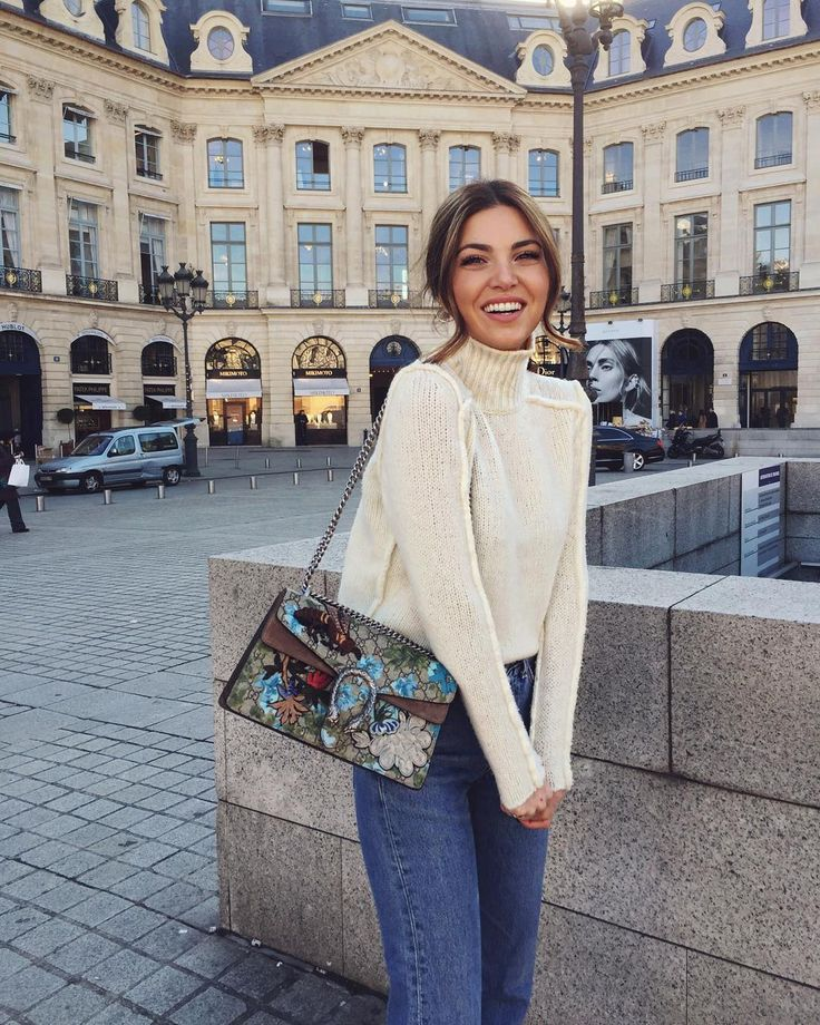 Negin Mirsalehi wears Gucci Dionysus bag in Paris