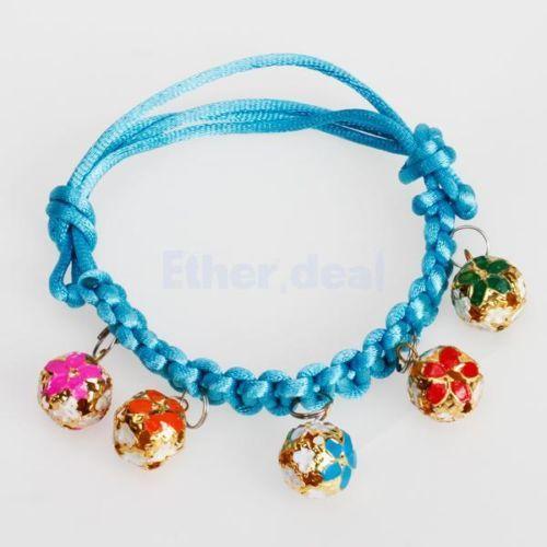 Verstellbar-Nylon-Halsband-Hundehalsband-Glocke-Katzenhalsband-Welpenhalsband