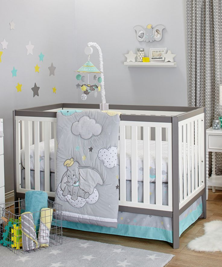 Another great find on #zulily! Dumbo Dream Big Three-Piece Crib Set by Disney Baby #zulilyfinds