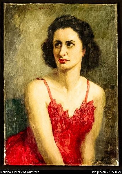 Poet Rosemary Dobson (1950) by Norman Lindsay via NLA