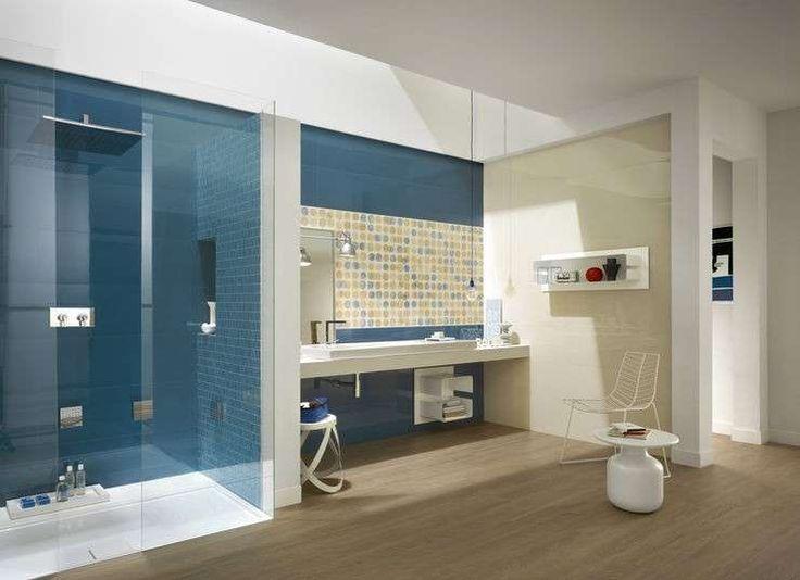 colore pareti bagno bagno dai colori blu e beidge