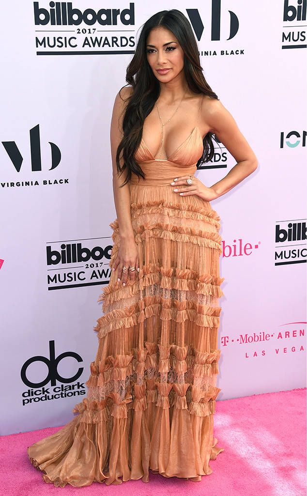 Nicole Scherzinger from Billboard Music Awards 2017: Red Carpet Arrivals The musical personality selected a plunging frock.