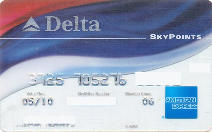 AmEx Delta Gold SkyPoints (American Express, United States of America) Col:US-AE-0147