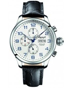 INGERSOLL Automatic APACHE Black Leather Strap(IN3900SL)