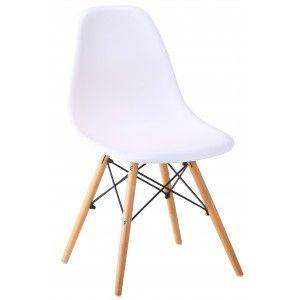 Lipton stol med vit sits och ekben, Matbord och stolar/Stolar/Matstolar