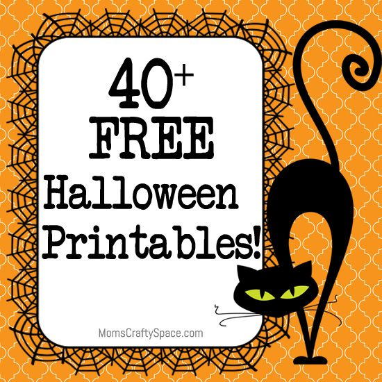 40+ Free Halloween Printables - Happiness is Homemade. I really love free
