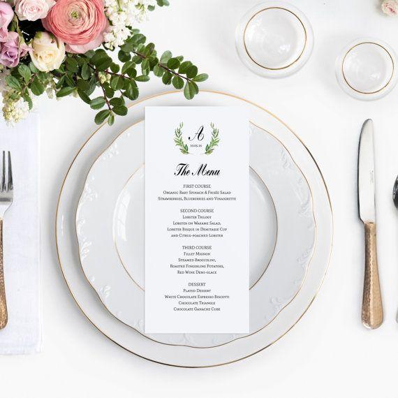 13 best Wedding Menus images on Pinterest Wedding menu cards - wedding menu