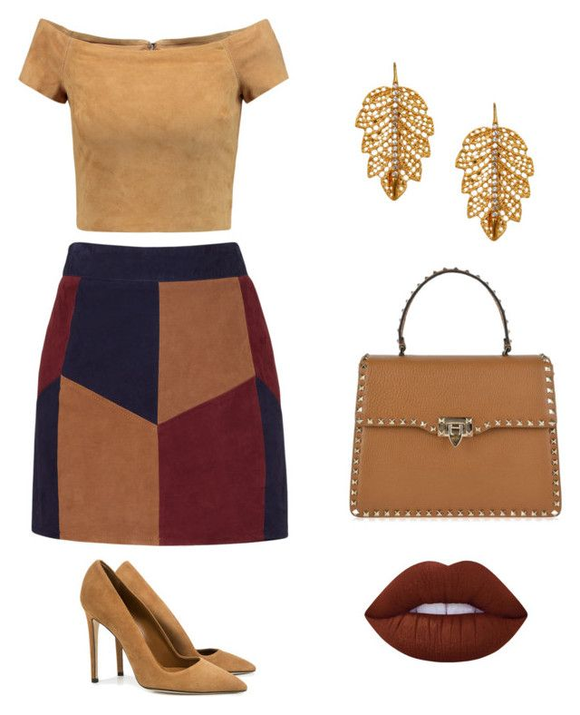 """Mustrad"" by meysiskatikha on Polyvore featuring LaMarque, Dee Keller, Alice + Olivia, Valentino, Marika and Lime Crime"