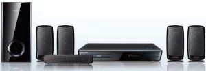 Samsung HT-EM35 5.1 CH Home Theater System with Blu-ray Player by Samsung. $129.99. The Samsung HT-EM35 5.1 CH Home Theater System with Blu-ray Player provides Blu-ray picture quality, 3D excitement and web-connected entertainment. Take your favorite movies and shows to the next level. Blu-ray technology delivers the most vivid, lifelike images. DVD video upconversion enhances your DVDs to near-Blu-ray picture quality. And it's all in 500W of brilliant 5.1-chann...