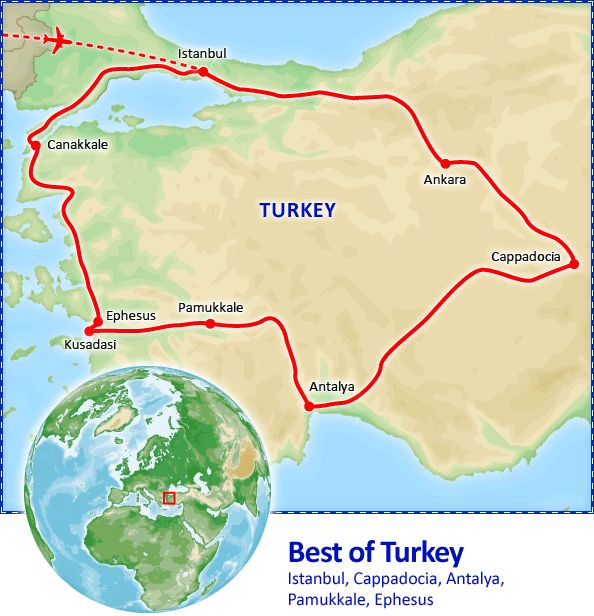 Best of Turkey tour itinerary.  Best of Turkey Tour Package - Tours of Turkey by Friendly Planet Travel