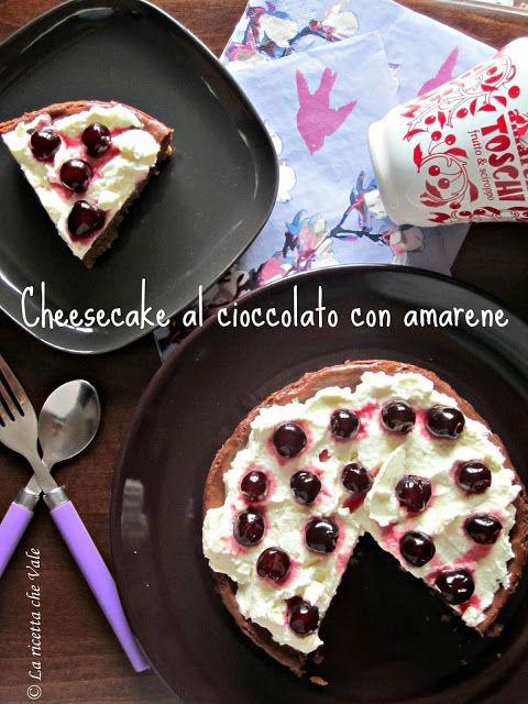 Cheesecake al cioccolato con amarene
