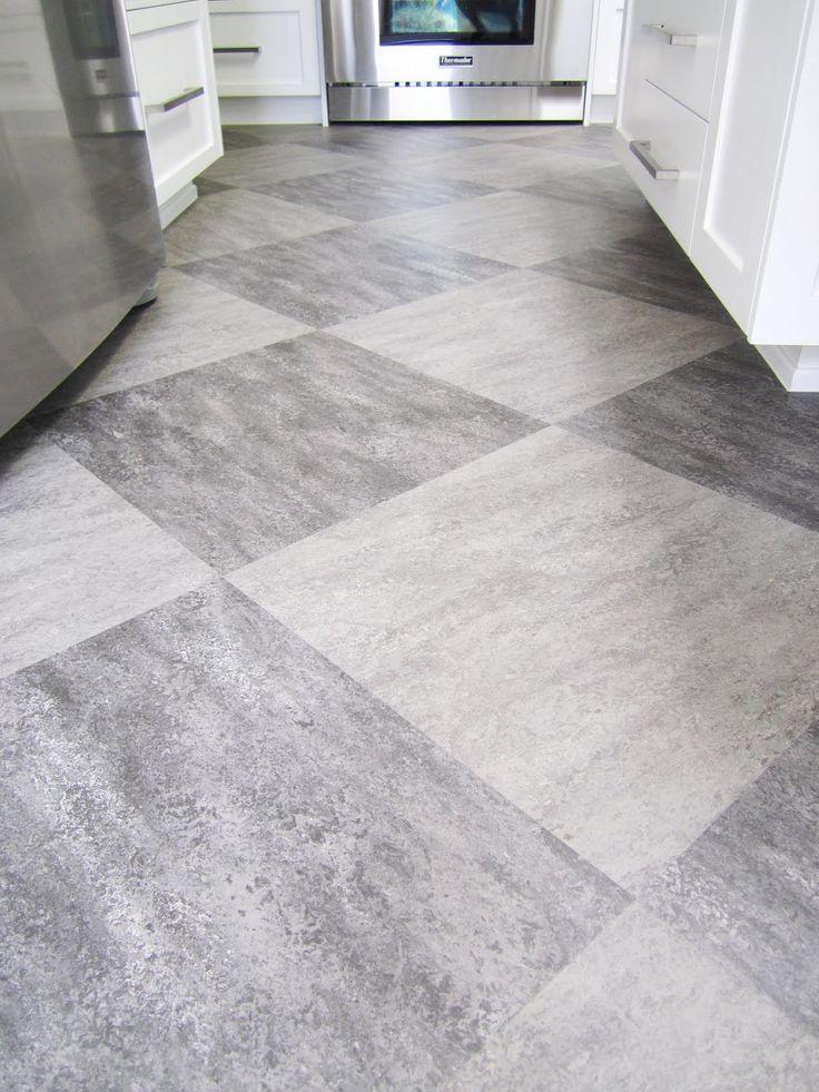 Marmuleum Dual Tiles In A Harlequin Pattern Grey On Grey Tiles