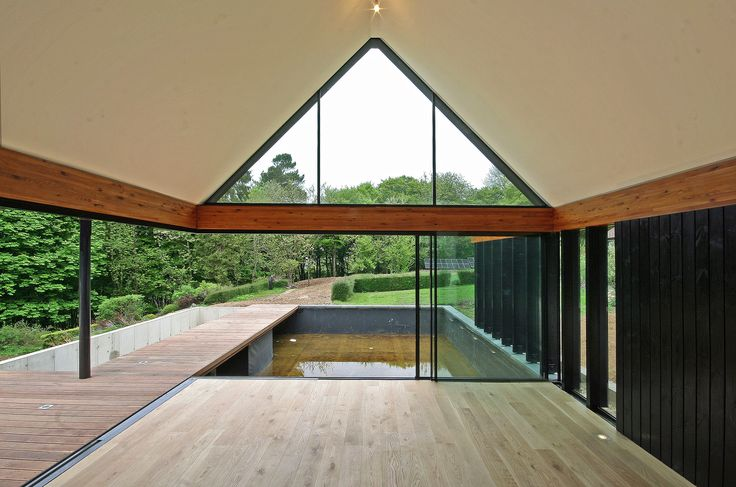 Highacres, Chinnor, Oxfordshire Duncan Foster Architects Lamisell Larch Glulam / Timber Thermowood / Iroko / European Oak