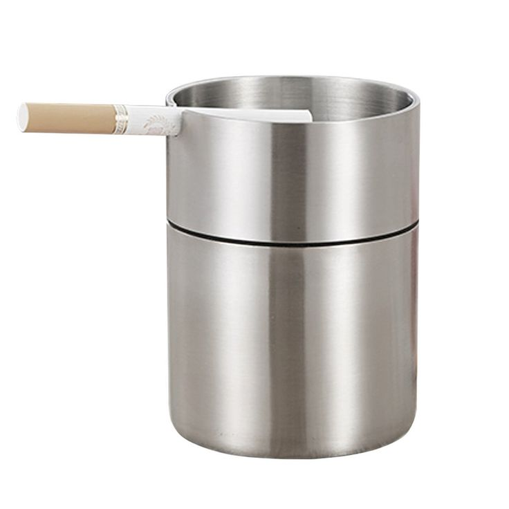 Oilp Smokeless Car Ashtray for Cigarette/ Home Ashtray Office Ashtray Indoor/Outdoor Stainless Steel Ashtray-Silver *** See this great image  : Decor Ashtrays