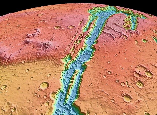 Inside the Valles Marineris canyon on Mars are vast mounds of layered sediments of enigmatic origins which have puzzled scientists for decades