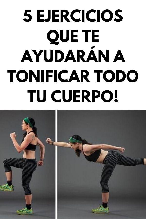 """5 Ejercicios que te ayudarán a tonificar todo tu cuerpo! Esta selección de cinco """"movimientos"""" funcionará en todos los grupos musculares principales y, si se combina con una dieta adecuada, mejorará tu físico. Runner Tips, Runners, Yoga, Workout, Fitness, Tone It Up, Get Skinny, Fast Workouts, Leg Workouts"""