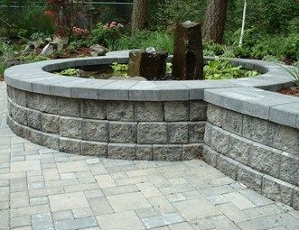Block Wall, Gray, Water Feature, Pond Pond and Waterfall Woody's Custom Landscaping Inc Battle Ground, WA