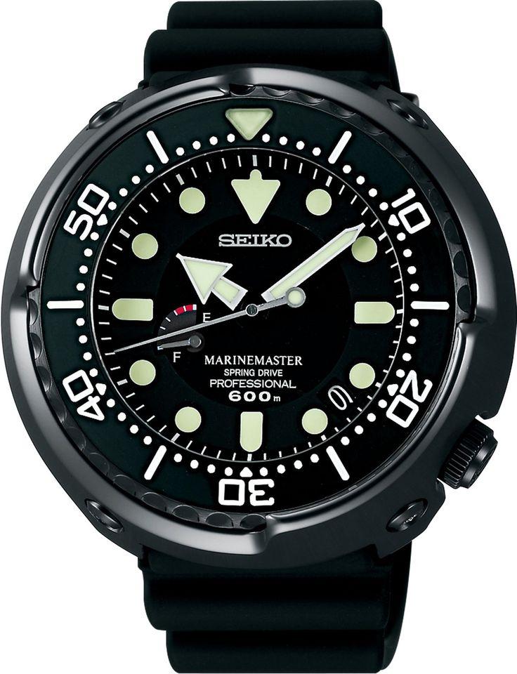 Amazon.co.jp: [セイコー]SEIKO 腕時計 PROSPEX プロスペックス MARINEMASTER マリンマスター ダイバーウオッチ ブライトチタン スプリングドライブ 最大巻上時約72時間持続 サファイアガラス 600m飽和潜水用防水 SBDB009 メンズ: 腕時計通販