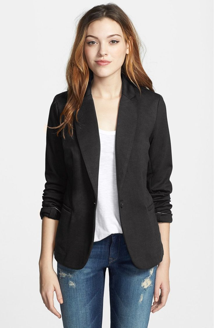 Free shipping and returns on Olivia Moon Knit Blazer (Regular & Petite) at Nordstrom.com. A knit blazer with modern styling details is offered in a variety of solids and prints to color any wardrobe. The sleeves can be worn rolled or left long for versatility.