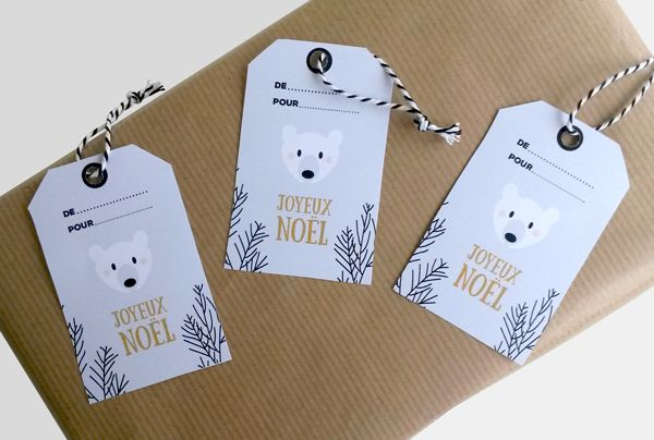 Free Christmas tags printable polar bear