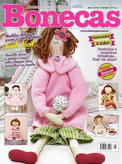 Andrea Artesanato Goiania ~ Artesanato Bonecas COL ARTE FACIL BONECAS 008 Editora Minuano Revistas Bonecas Muñecas
