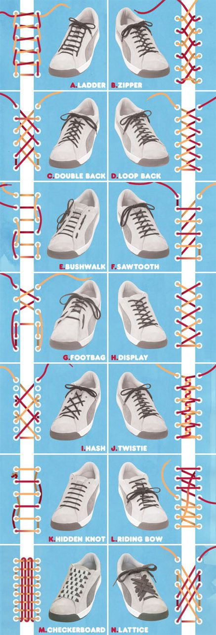 Lacing styles.