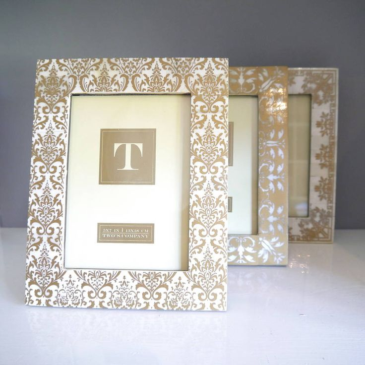 gold print picture frame in various designs by begolden | notonthehighstreet.com