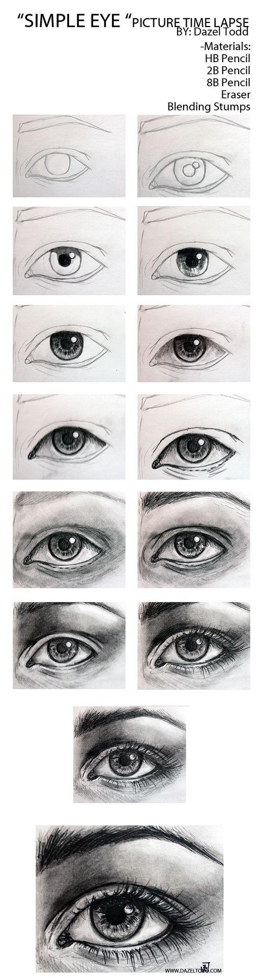 Dazel Todd Sketch of eye tutorial, drawing tips.