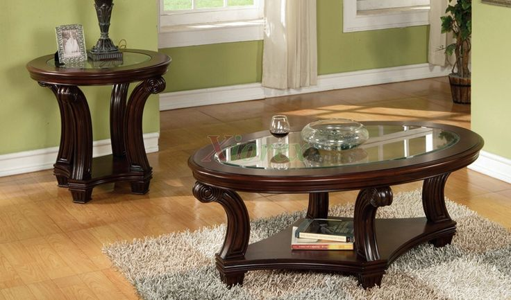 Glass Coffee And End Tables Sets