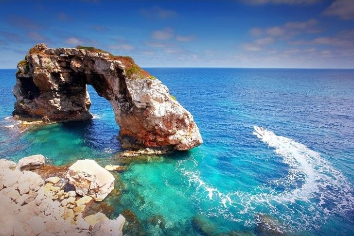 Balearic Island of Mallorca, located off the east coast of Spain in the Mediterranean Sea.