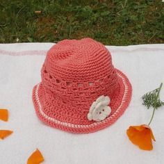 chapeau crochet fillette