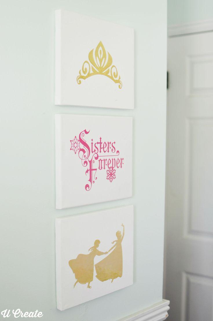 Frozen inspired bedroom - Frozen Girls Bedroom Decor By U Create