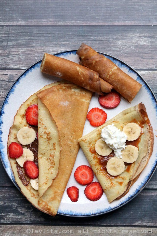 Basic recipe for French crepes