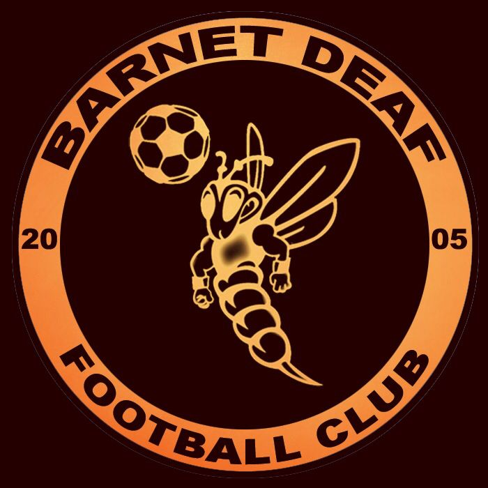 Barnet Deaf Football Club badge crest / logo