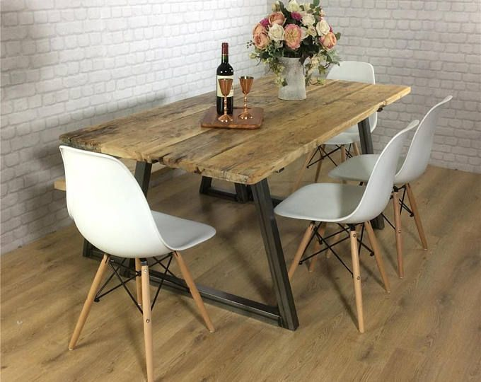 20++ Rustic industrial dining table and chairs Trend