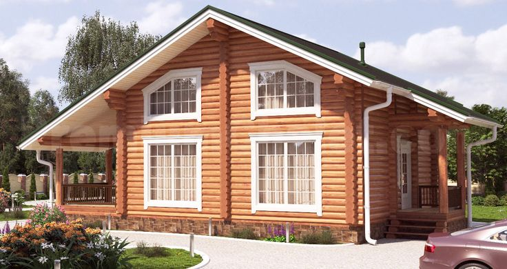 Проект деревянного дома — Дом Лесника — ДЛ-156
